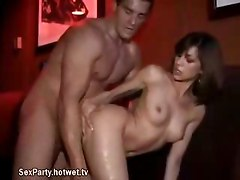 College Brunette Bends Over And Gets Fucked At Sex Party