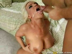 riding cock cum big tits facial hard sex
