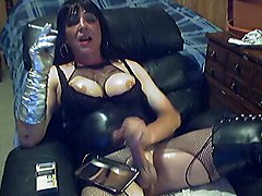 crossdresser solo transsexual masturbation fetish