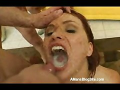 cumshot redhead cuminmouth bukkake cumswallow