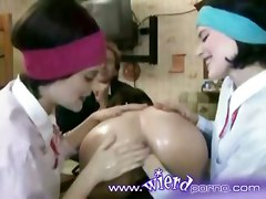 lesbian oiled fetish twins fisting