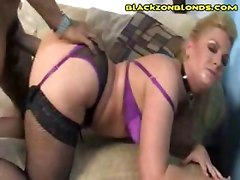 Blonde Squirts On Black Man