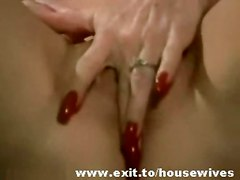 blonde mature masturbation solo granny