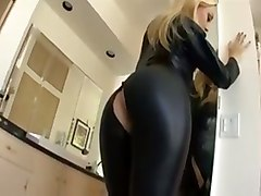 anal leather outfit sexy dped double
