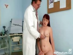 mature red head pussy gyno doctor fetish check up