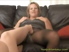 amateur homemade stockings foot fetish rubbing big tits natural blonde couch lesbian mature mom wife chubby tattoo