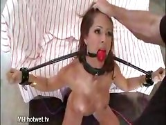 MILF bondage loves the way she sucks cock