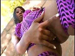 ebony anal facial