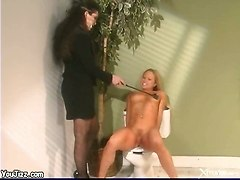 piercing spanking blonde small tits domination
