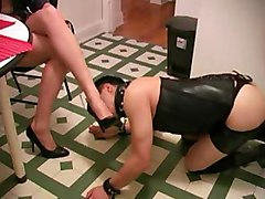 bondage fetish femdom slave feet pussy brunette babe domination humiliation submission