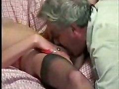 threesome vintage blowjob lick stockings