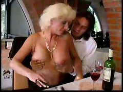 Blond Mature On Table Part1