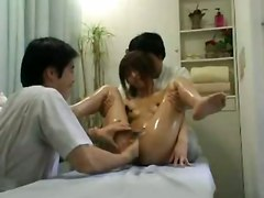 hardcore oiled blowjob fingering threesome asian hairypussy pussyfucking massage