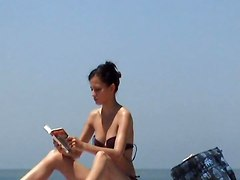 Incredible Beach Skinny Girl Topless France