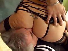 stockings redhead bigtits pussylicking asslicking bigass fetish corset femdom facesitting