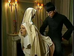 threesome nun uniform blowjob dick anal sucking public