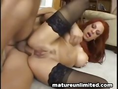 anal milf ass to mouth stockings redhead big tits cumshot facial