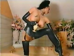 big tits piercing fetish latex stockings lingerie brunette teasing bathroom retro wet masturbation vintage