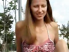 small tits russian outdoor amateur homemade teasing skinny brunette public