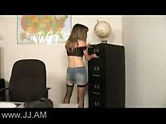 anal stockings cumshot facial blonde blowjob asstomouth pussyfucking office