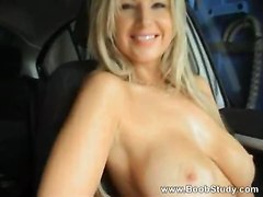 big tits public solo