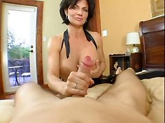 milf big boobs creampie handjob blowjob