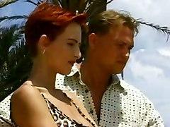 tinav redhead outdoors anal cumshot big tits blowjob shaved short hair