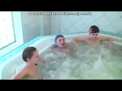 jacuzzi hot tub party teen amateur porn 4some anal cumshot small tits