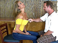 blonde  milf  skinny  jeans  tanned  grey eyes  from behind  beautiful tits  long legs Montana Skye