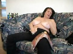 Brunette Busty old Granny fucking