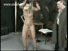 Tattooed Blonde Slut Getting Punished
