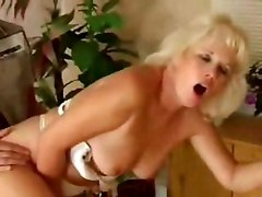 Hot blonde mature milf mom wife or housewive fucks young man