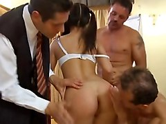 schoolgirl  panties  white panties  college girl  european  brunette  cute  sweet  hot  sexy  uniform  fmmm  gangbang  foursome  beautiful ass  short hose  stockings  anal fingering  anal  sandwiched  facial  cumshot