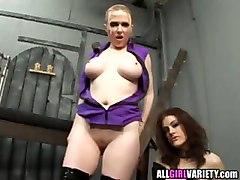 lesbian latex fetish fingering spanking busty pussylicking