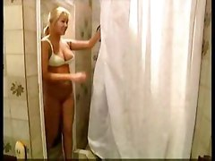 european blonde milf blowjob bathroom beautiful