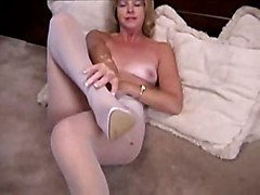 mature masturbation solo highheels pantyhose softcore