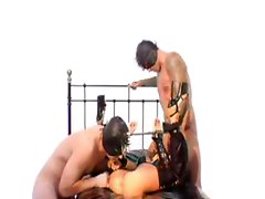 fetish mask double penetration dp anal threesome group orgy gangbang latex pornstar