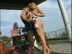 Blonde Lesbian Outdoor Pussy Pussylicking