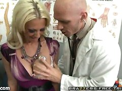 big tits doctor blonde fingering fucking