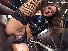 stockings cumshot fucking interracial bigcock lingerie asian fishnets heels