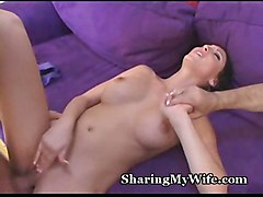 porn sex big tits hot babe brunette bj wife oral orgasm cuckold sharing hubby