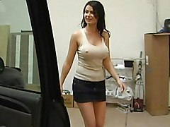 brunette  mom  milf  hot  sexy  big tits  massive tits  beautiful tits  mini  skirt  jean skirt  car  home  bed  penetration  on side  emotional  moan Eva Karera