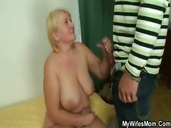  masturbation dildo toys big tits mature granny blowjob handjob
