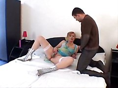 stockings hardcore creampie blowjob redhead boots pussyfucking