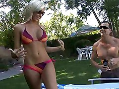 blonde  swim suit  tanned  beautiful body  tall  big tits  beautiful tits  cock ride  cumshot  tits cumshot Jessica Lynn