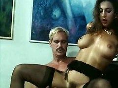 pussylicking pornstar big tits brunette european lingerie stockings riding deepthroat face fuck handjob blowjob milf vintage retro