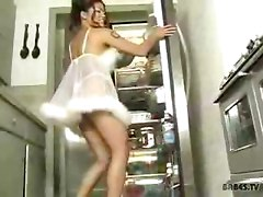 Charmane Star dildo in the kitchen asian street meat