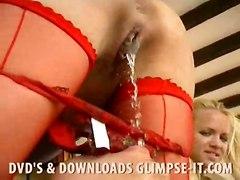stockings lesbian fingering pussylicking fetish pissing