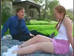 kitty marie sweet teen outdoor outside grass picni