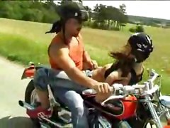 reality couple outdoor pigtails brunette blowjob fingering doggystyle hardcore hairy riding cumshot facial